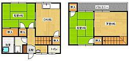 檜阪アパート[2号室]の間取り