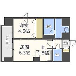 クレジデンス札幌・南4条[13階]の間取り