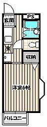 ミモザ館[1階]の間取り