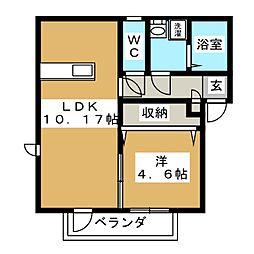 グランヒル箱崎[1階]の間取り