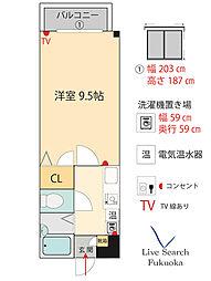 第3ゼニヤビル[2階]の間取り
