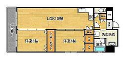 ヨーロピアンタワー[12階]の間取り