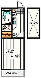 JR京浜東北・根岸線 大宮駅 バス16分 南中野停下車 徒歩6分の賃貸マンション 2階1Kの間取り