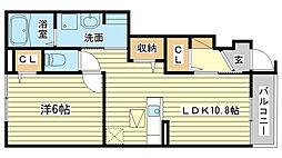 サニーガーデン仁豊野[1階]の間取り