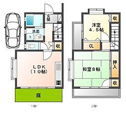 [テラスハウス] 千葉県八千代市八千代台東1丁目 の賃貸【/】の間取り