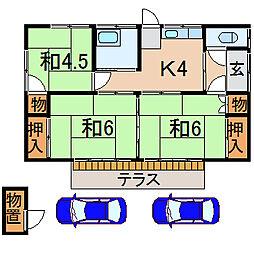 [一戸建] 福島県福島市瀬上町字桜町1丁目 の賃貸【/】の間取り