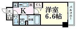 Osaka Metro堺筋線 扇町駅 徒歩5分の賃貸マンション 2階1Kの間取り