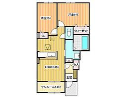 フォルトゥーナ道明寺B[1階]の間取り