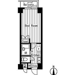 ガーラ桜台[0203号室]の間取り