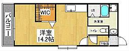 ウイングス片野[11階]の間取り