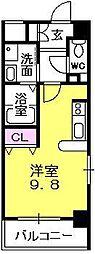 アッシュコート夙川公園[202号室]の間取り