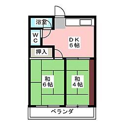第1三建ビル[4階]の間取り