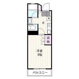カーサ裾野[1階]の間取り