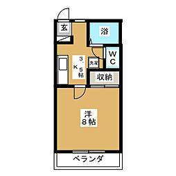 オーレ東仙台II[1階]の間取り
