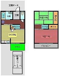 [テラスハウス] 埼玉県上尾市富士見2丁目 の賃貸【/】の間取り