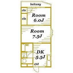 エクシード21[1階]の間取り