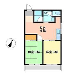 センタービレッジ[2階]の間取り