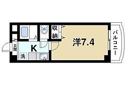 カンパネルラ 5階1Kの間取り