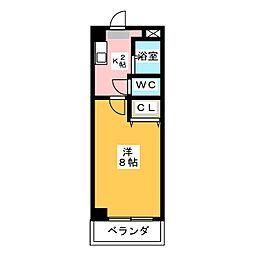 愛知県名古屋市中川区篠原橋通3丁目の賃貸マンションの間取り
