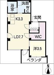 AZUR JOSAI[4階]の間取り