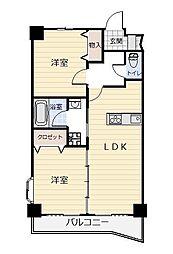 ニューシティアパートメンツ南小倉I[813号室]の間取り