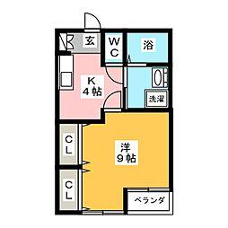 タウンフラットIII[1階]の間取り