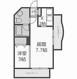 北海道札幌市西区八軒三条東2丁目の賃貸マンションの間取り
