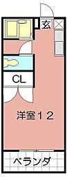 プレジール福島[202号室]の間取り
