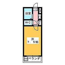 水神パークハイツ[1階]の間取り