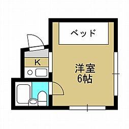 パインマンション[4階]の間取り