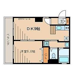 関根高島平コーポ[3階]の間取り