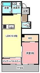 静岡県浜松市東区半田山3丁目の賃貸アパートの間取り