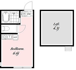 ラヴィアンローゼ[1階]の間取り