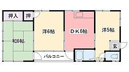 喜代田マンション[3F号室]の間取り