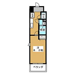 パークフラッツ新栄[2階]の間取り