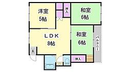 兵庫県神戸市長田区片山町2丁目の賃貸マンションの間取り
