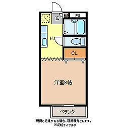 コーポピクルII[2階]の間取り