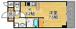 ベラジオ京都清水[406号室号室]の間取り