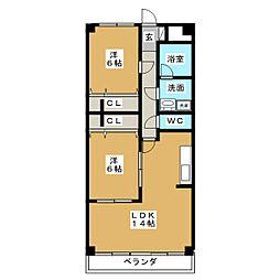 AMI加納 I[1階]の間取り