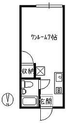 コーポKaku[103号室]の間取り