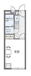 西武池袋線 仏子駅 徒歩3分の賃貸アパート 2階1Kの間取り