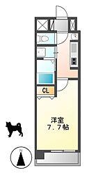 クレジデンス黒川[6階]の間取り