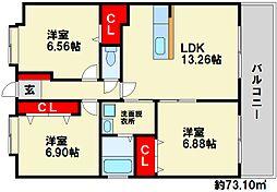 LEGEND小笹[303号室]の間取り