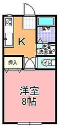 雨澤ハイツ A棟[102号室]の間取り