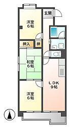 ハイツ桜台[2階]の間取り