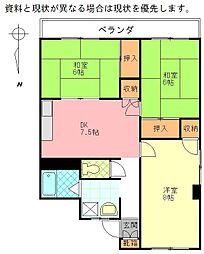 倉田ビル[406号室]の間取り