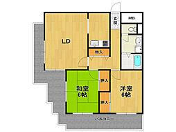 トロント92[2階]の間取り