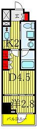 東京メトロ南北線 志茂駅 徒歩1分の賃貸マンション 4階1DKの間取り