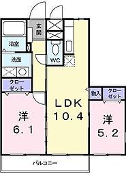 ウイングコート[2階]の間取り