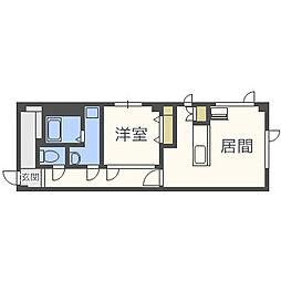 北海道札幌市北区新琴似十二条1丁目の賃貸マンションの間取り